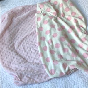 Baby Girl Boppy and Carter's changing pad covers